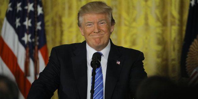 Le président américain Donald Trump à la Maison Blanche, le 23