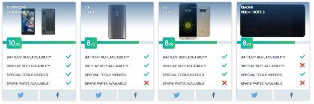 Réparation de smartphones: les modèles les plus simples et économiques selon