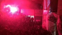 Musique, feux d'artifice et fumigènes samedi soir à Tolbiac, toujours occupée par les