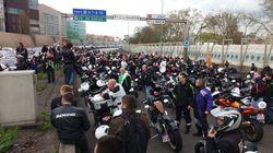 Des motards bloquent le périphérique parisien pour protester contre la vitesse limitée à