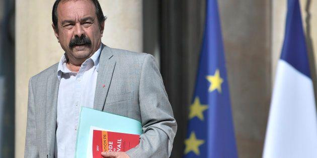 Le Secrétaire général de la CGT Philippe Martinez arrive à l'Élysée le 23