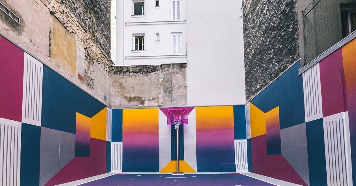 Basket Rue De Terrain Coloré Et Sublime La Le Duperré À Paris FK1uTlJc3