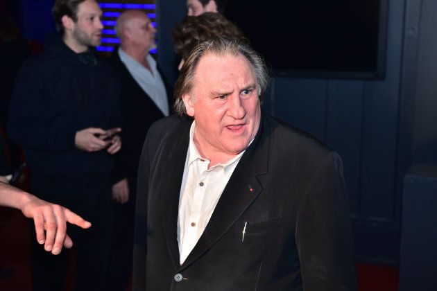 French actor Gerard Depardieu is pictured ahead of the screening of French actress and director Fanny...