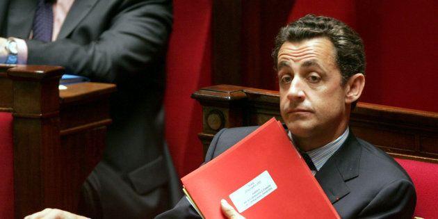 Nicolas Sarkozy à l'Assemblée nationale en