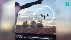 Et voilà pourquoi on n'utilise pas un drone de cette manière pendant un