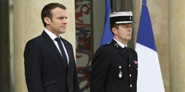 Emmanuel Macron à l'Elysée le 16 avril