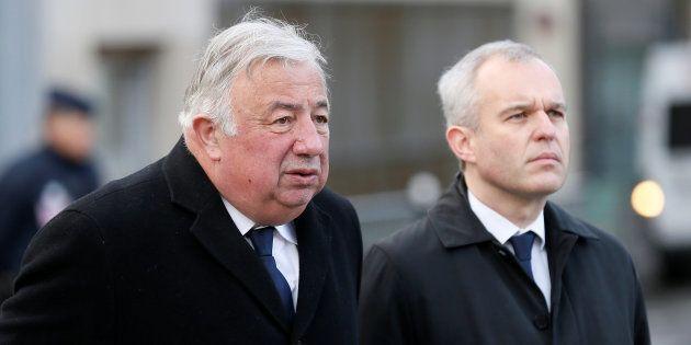 Le président du Sénat Gérard Larcher et son homologue de l'Assemblée François de
