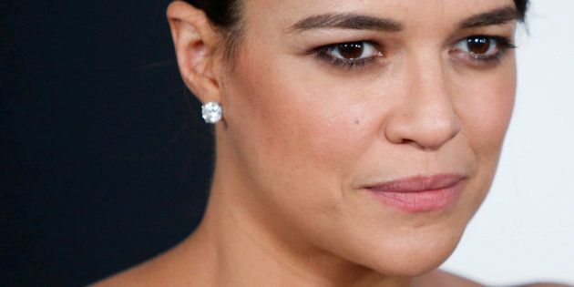 Michelle Rodriguez à la première new-yorkaise de 'The Fate Of The Furious' le 8 avril