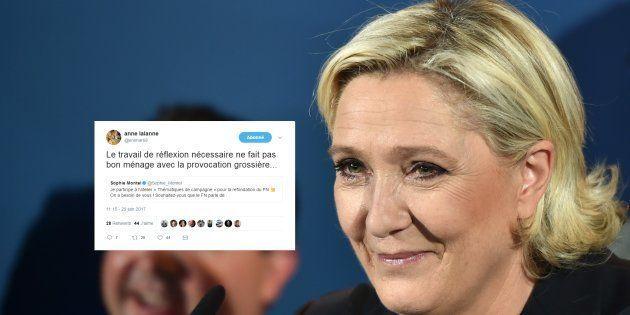 Quand Marine Le Pen utilise son compte caché pour recadrer une cadre