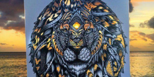 Cette artiste colore ses oeuvres grâce aux couleurs de la
