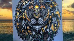 Cette artiste colore ses œuvres grâce à la