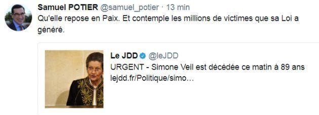 Mort de Simone Veil: Marine Le Pen omet l'IVG dans son hommage mais l'indignité n'a pas arrêté cet élu