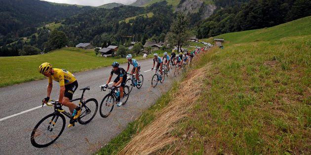 Lors de la 20e étape du Tour de France 2016 entre Megève et Morzine le 23