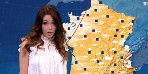 Nabilla en présentatrice météo à l'émission
