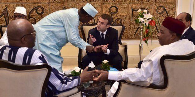 Pour l'arrivée d'Emmanuel Macron au Mali pour