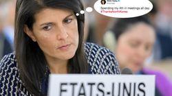 L'ambassadrice américaine à l'ONU se plaint d'avoir à travailler un jour férié à cause de la Corée du