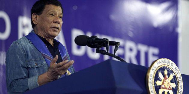 Le président philippin Rodrigo Duterte lors de son discours du 5 juillet à