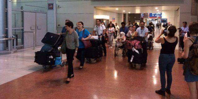 Seize premiers réfugiés syriens sont arrivés en France par