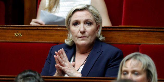 Marine Le Pen sur les bancs de l'Assemblée nationale le 27