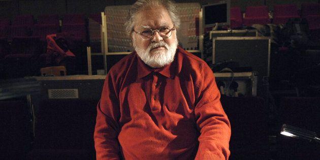 Pierre Henry le 9 décembre 2007, dans un studio d'enregistrement à