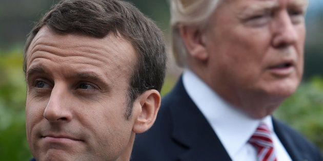 Emmanuel Macron et Donald Trump au sommet du G7 à Taormina en mai