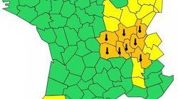 8 départements en alerte orange