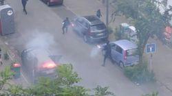 Voitures brûlées, vitrines brisées... des centaines de casseurs dans le centre de