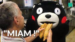 On a suivi la visite parisienne de Kumamon, la mascotte qui doit