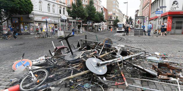 Violences au G20: la presse allemande fait porter le chapeau à Angela Merkel (Photos: un amas de débris...