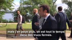 Macron avait visiblement besoin de prendre l'air à