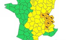 7 départements en alerte orange aux
