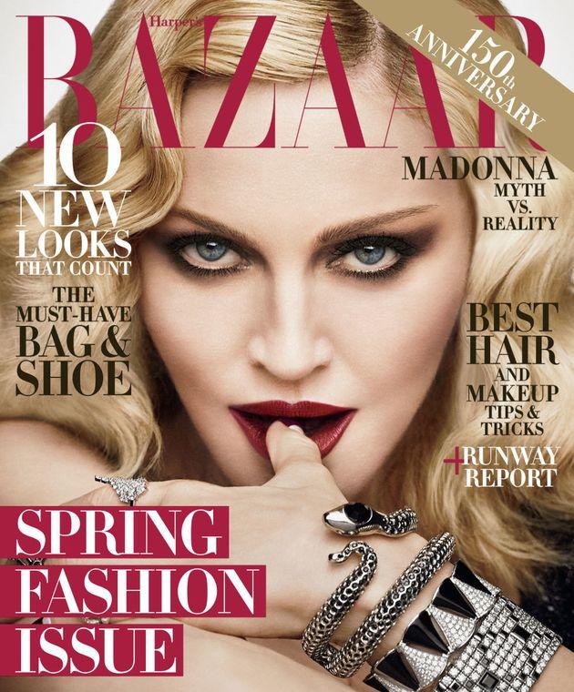 Madonna en couverture du Harper's Bazaar, édition de