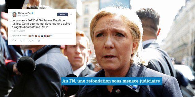 Mécontente d'une dépêche, Marine Le Pen porte plainte contre