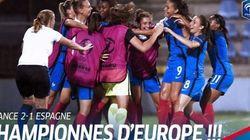 Les buts de la victoire des Françaises à l'Euro U19 face à