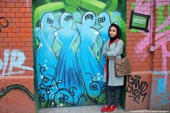 PHOTOS. La première femme street artist en