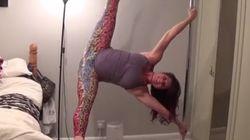 Enceinte, elle fait du pole dance alors que les contractions ont