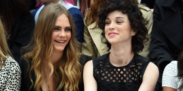 Photo by: KGC-03/STAR MAX/IPx 2015 9/21/15 Kate Moss, Cara Delevingne, Annie Clark aka St. Vincent and...