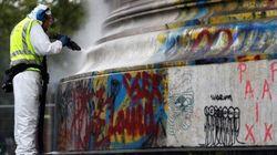 La statue de République commence à être nettoyée de ses hommages