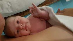 Ce bébé qui vient de naître annonce à son père que tout est