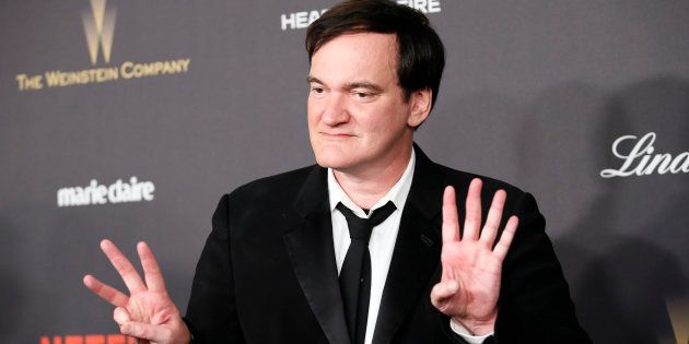 Director Quentin Tarantino arrives at The Weinstein Company & Netflix Golden Globe After Party in Beverly...