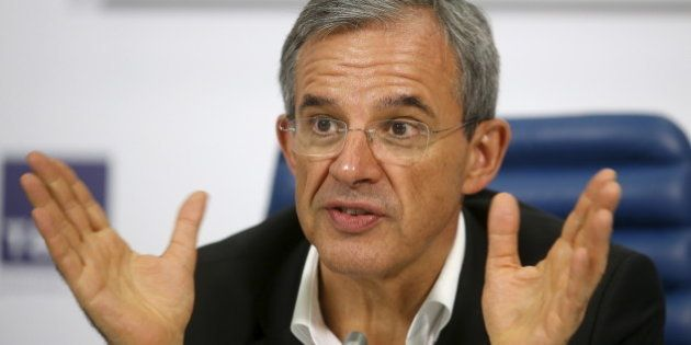 Thierry Mariani, a member of the Foreign Affairs Committee of the French Parliament, attends a news conference...