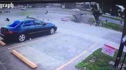 Le conducteur a survécu à ce terrible accident de