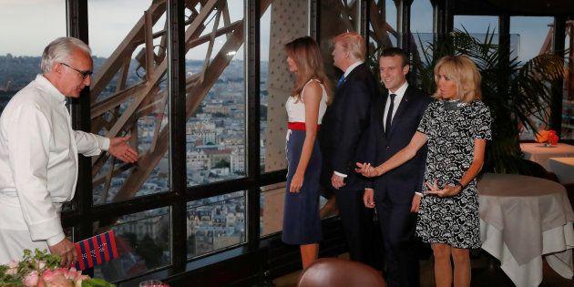 Le restaurant le Jules Verne, où Macron et Trump dînent, ravit-il les critiques gastronomiques ?