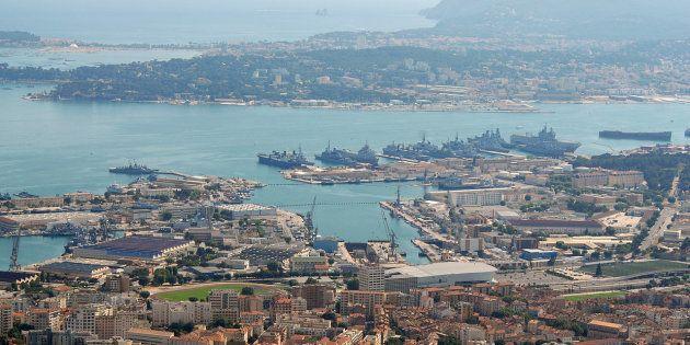 Vue aérienne du port de