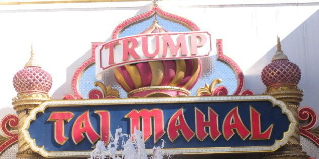 In this photo taken June 30, 2016, the exterior of the Trump Taj Mahal casino in Atlantic City, N.J....