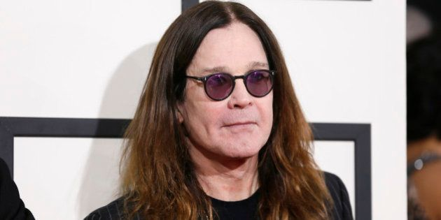 Ozzy Osbourne of the heavy metal band Black Sabbath arrives at the 56th annual Grammy Awards in Los Angeles,...