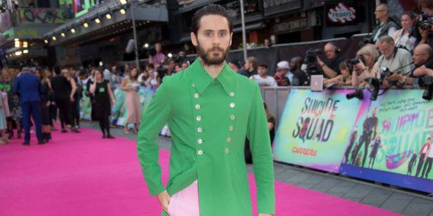 Actor Jared Leto poses for photographers upon arrival at the European Premiere of Suicide Squad, at a...
