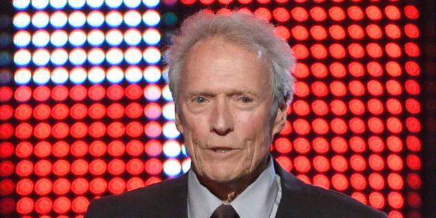 Clint Eastwood presents the hero award at the Guys Choice Awards at Sony Pictures Studios on Saturday,...