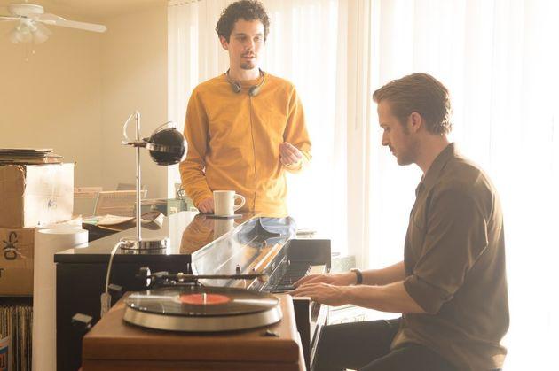 Ryan Gosling et Damien Chazelle durant les répétitions de