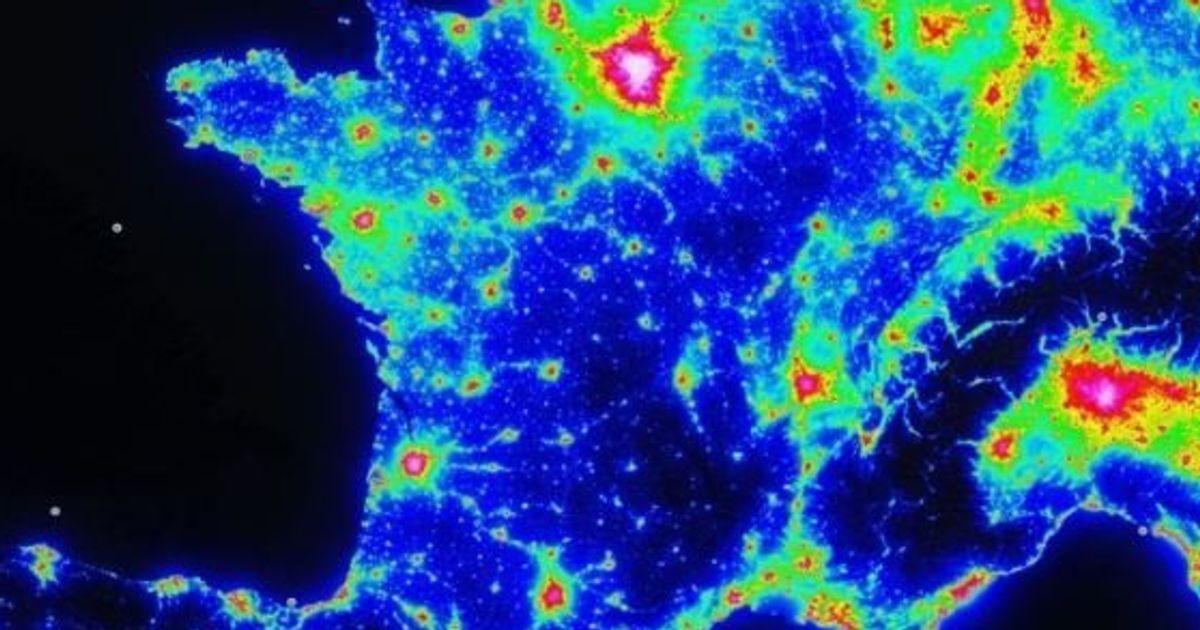 carte pollution lumineuse 2020 La carte de la pollution lumineuse pour bien profiter de la Nuit